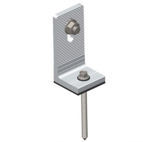 Aluminium L feet kit with rubber pad with screw for wooden purlin
